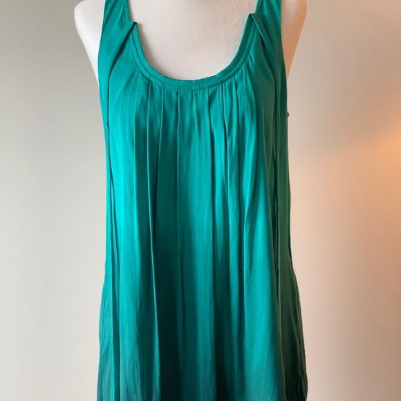 Express Dresses & Skirts - Express green ombré silk dress